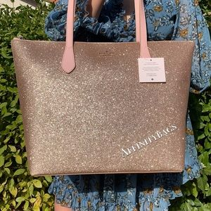 FIRM PRICE ❣️ Kate spade large glitter gold tote